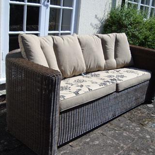 Bellagio Avero 3 Seater Garden Sofa, Xpresso Weave