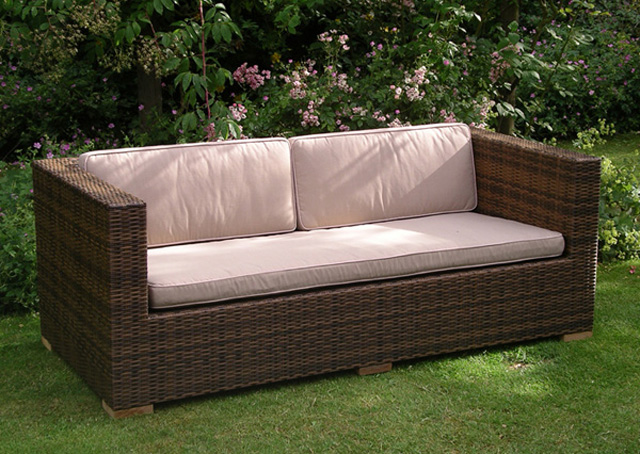 Arizona 4 Seater Garden Sofa Cappuccino